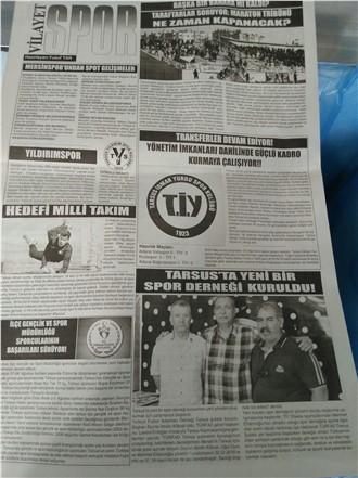 TARSUS VİLAYET GAZETESİ 95.SAYI SPOR SAYFAMIZ...