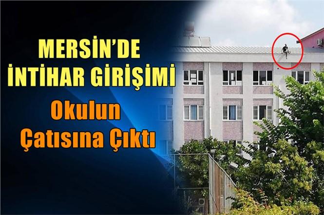 Tarsus'ta Okulda İntihar Girişimi! Çok Sayıda Polis Olay Yerinde