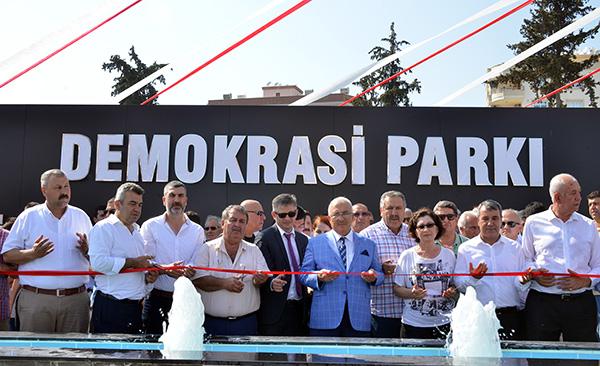 Demokrasi Parkı'nın açılışı yapıldı
