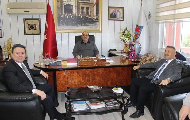 Milletvekili Özkan ve İlçe Başkanı Çetin, Oda Başkanı Duran Şen'i, Ziyaret Etti