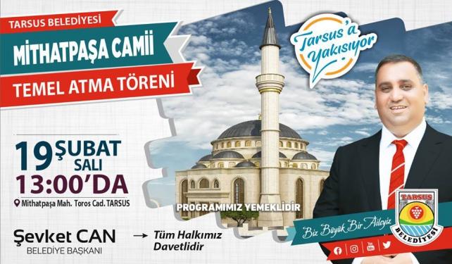 Mithatpaşa Camii ve Taziye Evi Temel Atma Töreni bugün