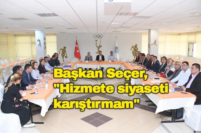 Başkan Seçer Mersin'e Vizyon Kazandıracak Yeni Yönetimi İle Bir Araya Geldi