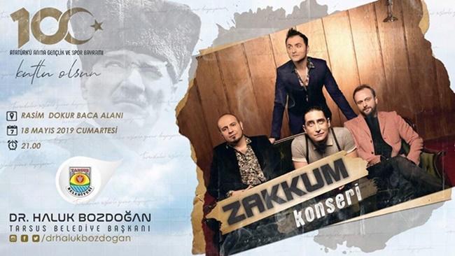 ZAKKUM GRUBU TARSUS'A GELİYOR!