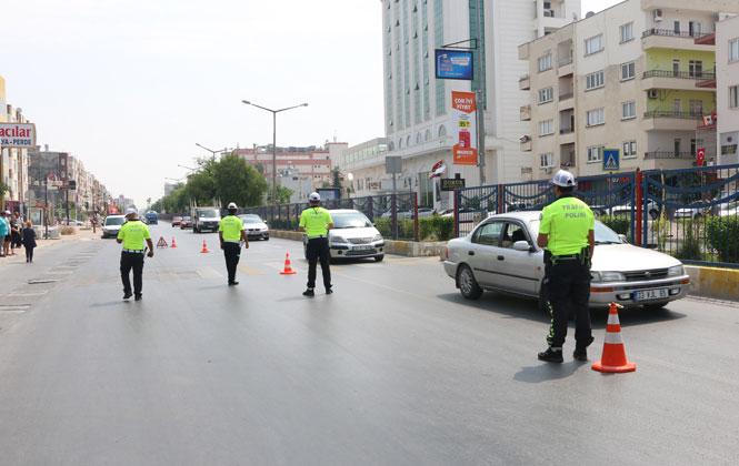 Mersin'de Bayram Trafik Denetimleri