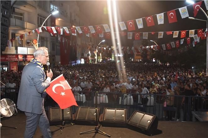 ONBİNLERCE TARSUSLU MEHMET ERDEM'LE COŞTU