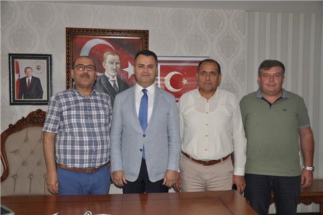 Tarsus Şoförler Odası'ndan Kaymakam Otcu'ya hoş geldin ziyareti.