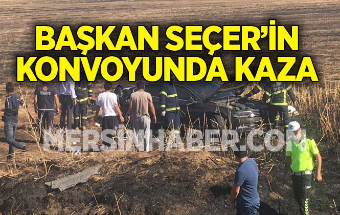 Mersin Büyükşehir Belediye Başkanı Vahap Seçer'in Konvoyu, Aksaray'da Kaza Geçirdi