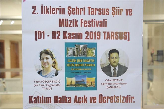 Tarsus Şiir ve Müzik Festivali 1 Kasımdabaşlıyor