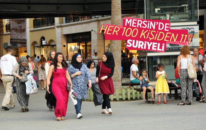Mersin'de Her 100 kişiden 11'i Suriyeli