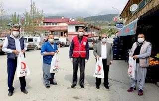 Türk Kızılay ve Genç Kızılay Çamlıyayla'da da sahada