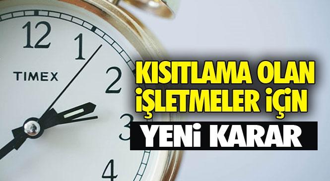 Mersin'de Çalışma Saati Kısıtlaması Olan İşletmeler Hakkında Alınan Yeni Karar Yayınlandı